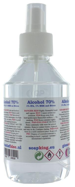 Surgical alcohol (70% 1% IPA, 1% MEK en Bitrex) 250ml including spray bottle