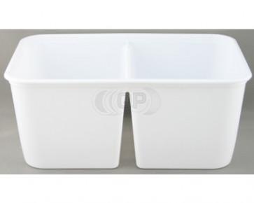 Plastic container 2 * 500 ml + cap 25 pieces