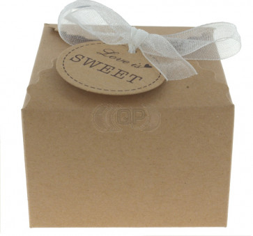 Gift box Love is Sweet 5 pieces (6,5*6,5*4,5 cm)