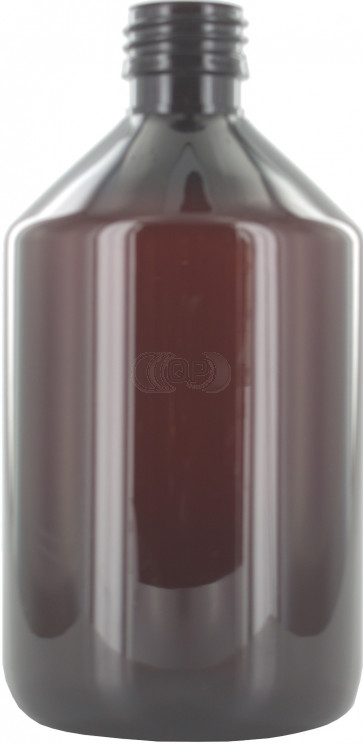 500ml brown / amber plastic bottle 28mm opening