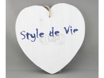 Pendant wood heart 11cm