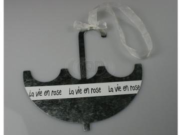 Pendant metal umbrella 16 cm