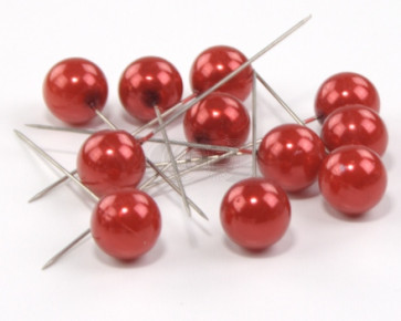 Pearl pins / pearl studs Ø 20 mm red 50 pieces [1462]