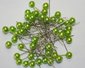 Pearl pins / pearl studs Ø 9 mm green 50 pieces [1424]