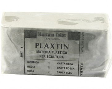 Plasticine clay ± 1 kilo (remaining soft)