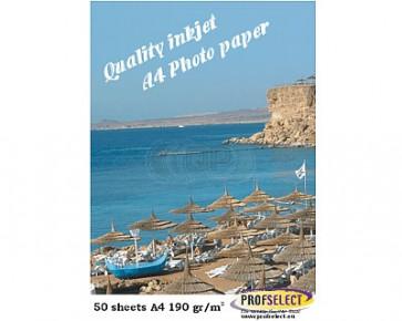 Inkjet photo paper A4 190g/m² glossy Profselect 50 sheets waterproof