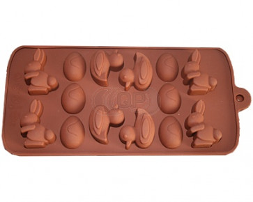 QP0010S silicone mold: Hare, egg & duck
