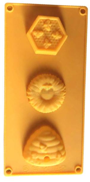 QP0039S siliconen mal: Bijen, honingraat