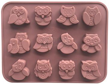QP0046NS silicone mold: Owl