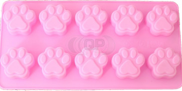 QP0047S silicone mold: paw print dog