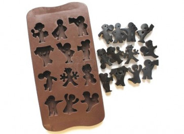 QP0056S silicone mold: several dolls
