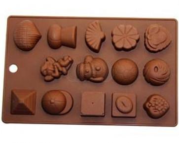QP0061S silicone mold: Chocolates 2