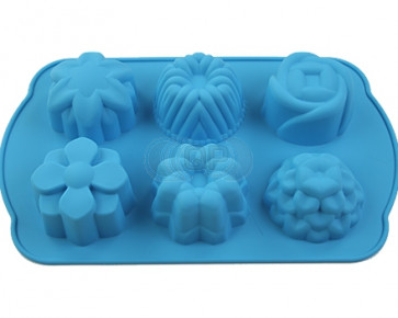 QP0062S silicone mold: flowers / cupcake Big