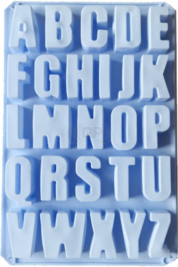 QP0075S silicone mold: very large alphabet letters