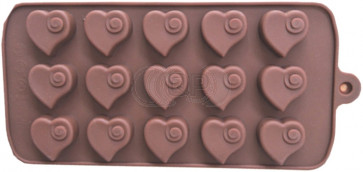 QP0090S silicone mold: Hearts
