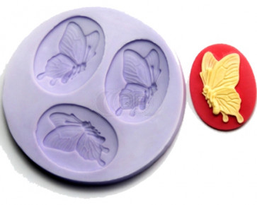 QP0091S silicone mold: Butterflys