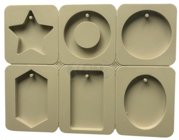 QP0092S silicone mold: Pendants / Cards