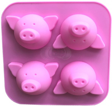 QP0098S silicone mold: Pigs