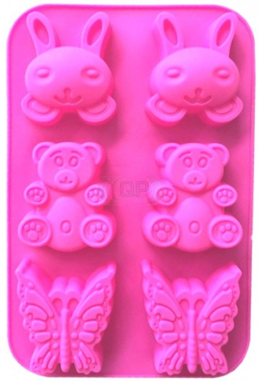 QP0101S silicone mold: Hare, Bee, Butterfly
