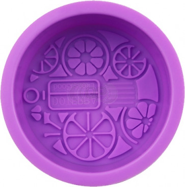 QP0105S silicone mold: Soap shape round