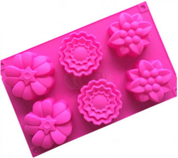 QP0106S silicone mold: Flowers