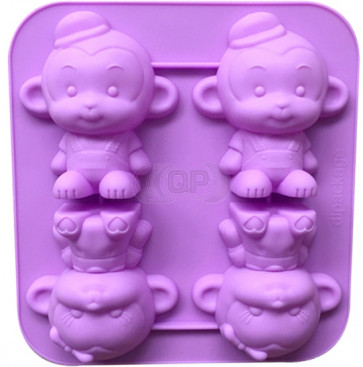 QP0108S silicone mold: Monkey