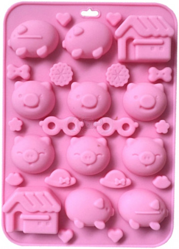 QP0109S silicone mold: Pigs