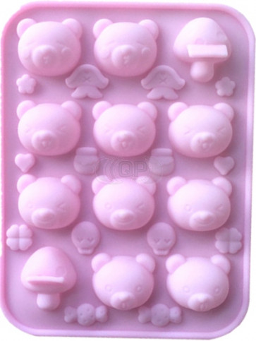 QP0111S silicone mold: Bears / Duck