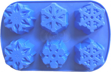 QP0112S silicone mold: Snowflakes