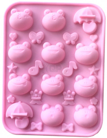 QP0113S silicone mold: Frogs