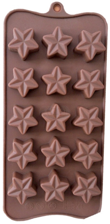 QP0114S silicone mold: Star