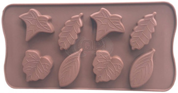 QP0115S silicone mold: Leaves