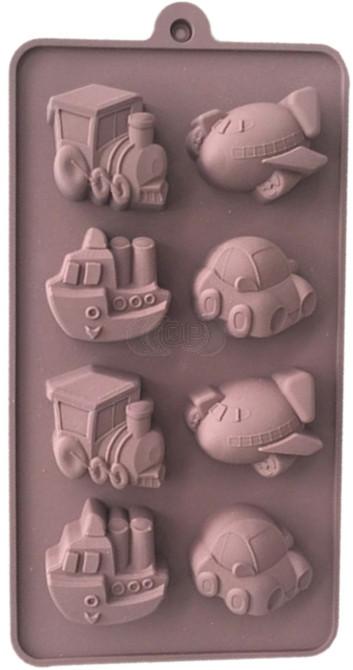 QP0120S silicone mold: Vehicles (boys mold)