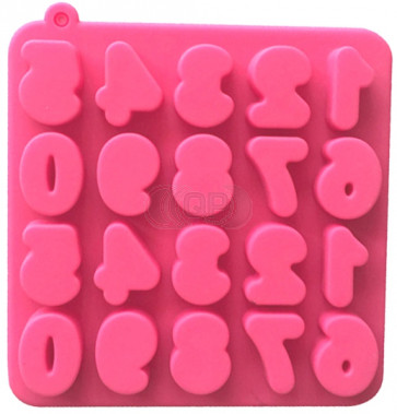 QP0124S silicone mold: Numbers 0 - 9