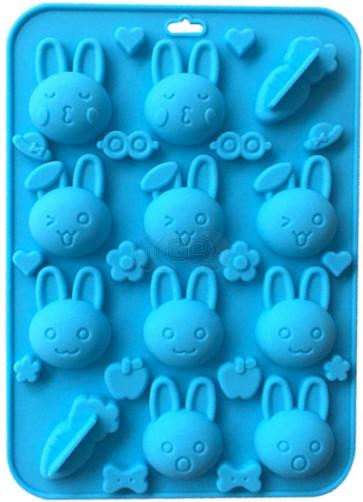 QP0125S silicone mold: Faces (cartoons)