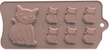 QP0130S silicone mold: Cat