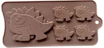 QP0134S silicone mold: Dinosaur