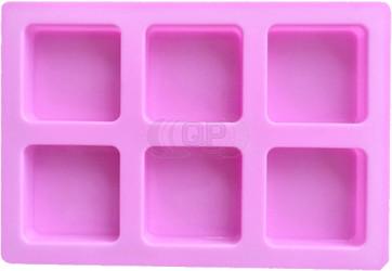 QP0141S silicone mold: 6 soap blocks square (60mm)