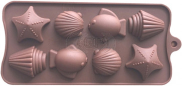 QP0151S silicone mold: Seafood / Animals