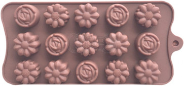 QP0152S silicone mold: Flowers
