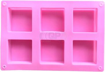QP0155S silicone mold: 6 soap blocks square