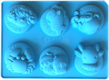 QP0162S silicone mold: Zodiac signs 1