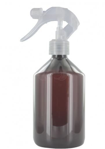Trigger spray bottle 500ml brown 28mm