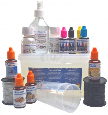 Glycerin melt and pour soap starter pack: allround