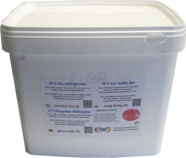 Glycerin melt and pour soap base non-scented 25 kilo white