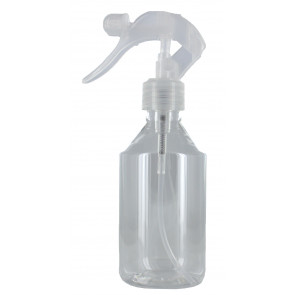 Trigger mist nozzle spray bottle 250ml clear 28mm (clear trigger)