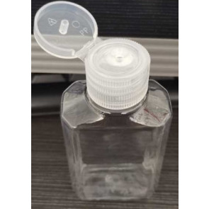 60 ml bottle with flip cap transparent (disinfection material)