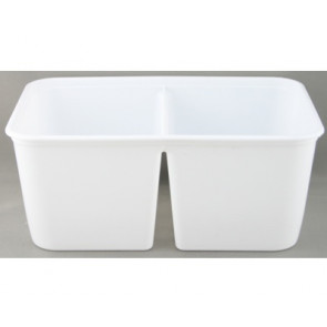Plastic container 2 * 500 ml + cap 25 pieces