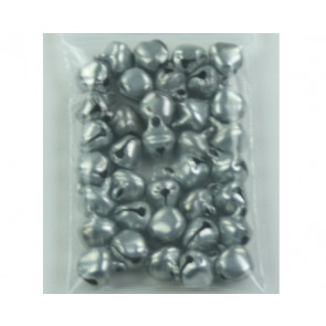 Pendant bells silver ± 35 pieces 6mm