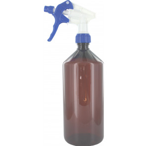 Trigger spray bottle 1000ml brown 28mm